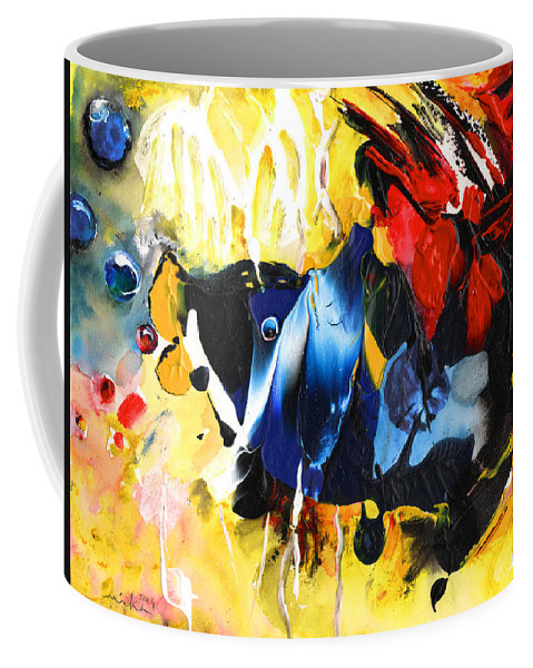 Acrylics Coffee Mug featuring the painting Nemo Finding Redbubble by Miki De Goodaboom