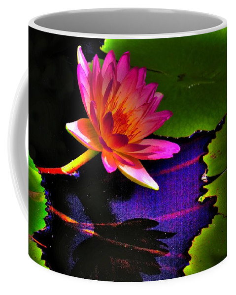 Flower Coffee Mug featuring the photograph Neon Lily by John Absher