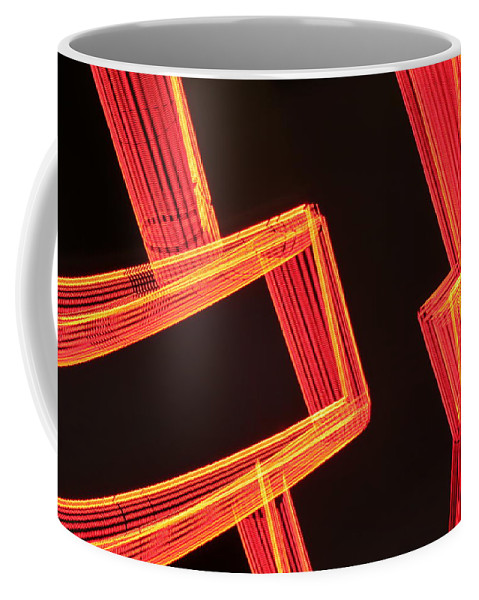 Neon Coffee Mug featuring the photograph Neon Maze by Ric Bascobert