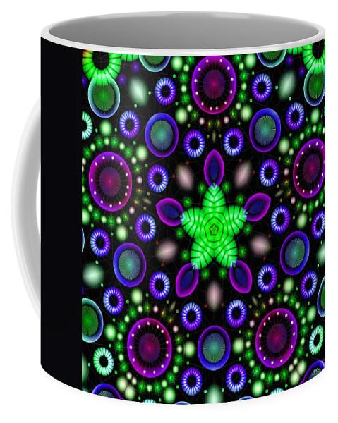 Neostar Coffee Mug featuring the digital art Neostar by Derek Gedney