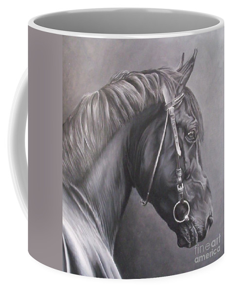 Horse Coffee Mug featuring the painting Nero 2 by Pauline Sharp