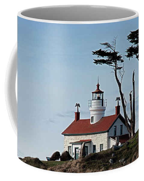 Battery Point Lighthouse Coffee Mug featuring the photograph Nestled by Betty Depee