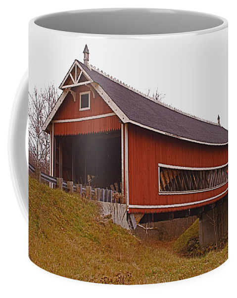 Ohio Coffee Mug featuring the photograph Netcher Road Covered Bridge by Jack R Perry