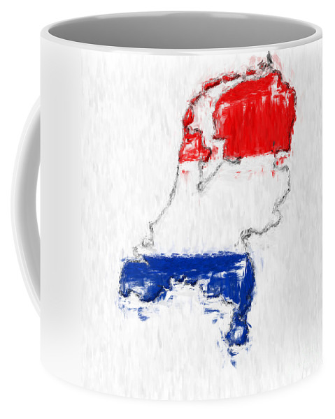 Netherlands Coffee Mug featuring the photograph Netherlands Painted Flag Map by Antony McAulay