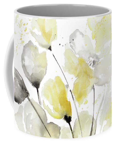 Neutral Coffee Mug featuring the painting Neutral Abstract Floral II by Lanie Loreth