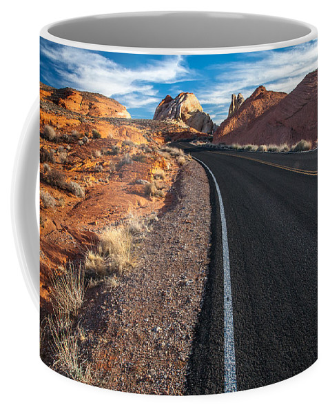 Canyon Coffee Mug featuring the photograph Nevada Highways by Peter Tellone
