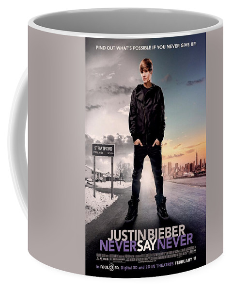 Justin Bieber Coffee Mug featuring the photograph Never Say Never 1 by Movie Poster Prints