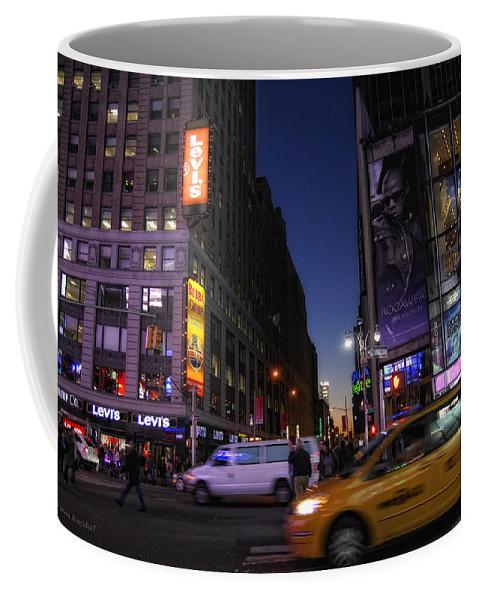 New York City Coffee Mug featuring the photograph Never Sleeps by Donna Blackhall