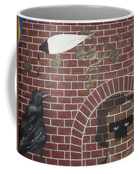 Edgar Allan Poe Coffee Mug featuring the painting Nevermore by Dean Stephens