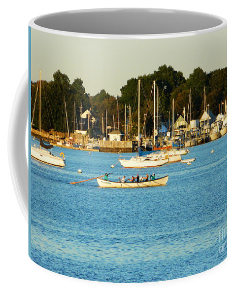 Fairhaven Coffee Mug featuring the photograph New Bedford Pier by Andrea Anderegg
