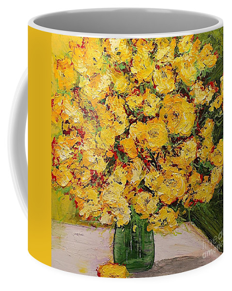 Landscape Coffee Mug featuring the painting New Beginnings by Allan P Friedlander