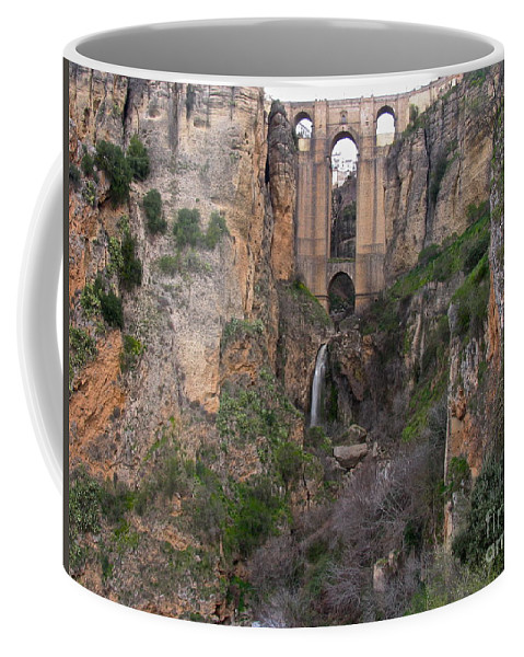 Ronda Spain Coffee Mug featuring the photograph New Bridge V2 by Suzanne Oesterling