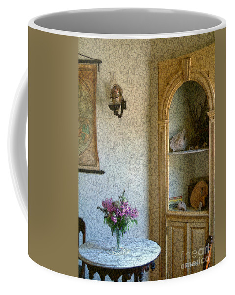 Antiques Coffee Mug featuring the painting New England Florentine by RC deWinter