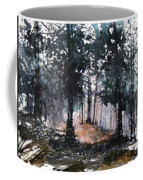 Woods Coffee Mug featuring the painting New England Landscape No.214 by Sumiyo Toribe