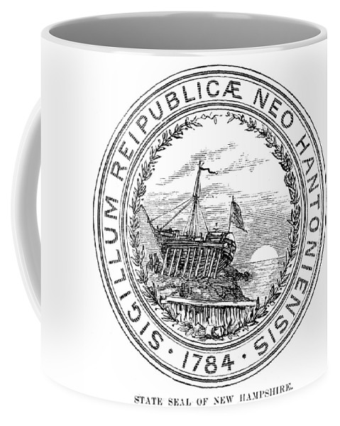 1784 Coffee Mug featuring the painting New Hampshire State Seal by Granger