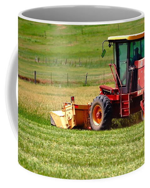 New Coffee Mug featuring the photograph New Holland 15544 by Jerry Sodorff