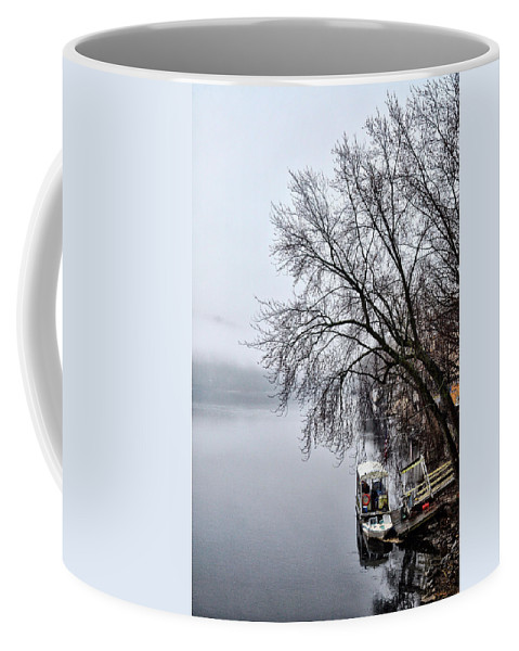 New Coffee Mug featuring the photograph New Hope Ferry by Bill Cannon
