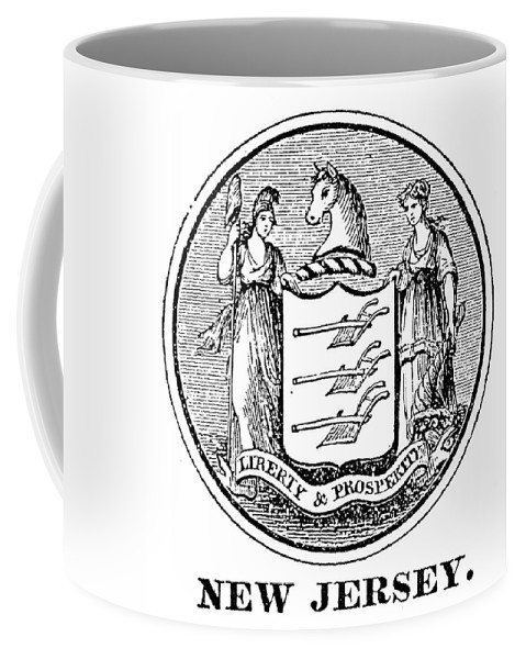 18th Century Coffee Mug featuring the painting New Jersey State Seal by Granger