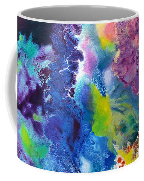 Color Coffee Mug featuring the painting New Life by Sally Trace
