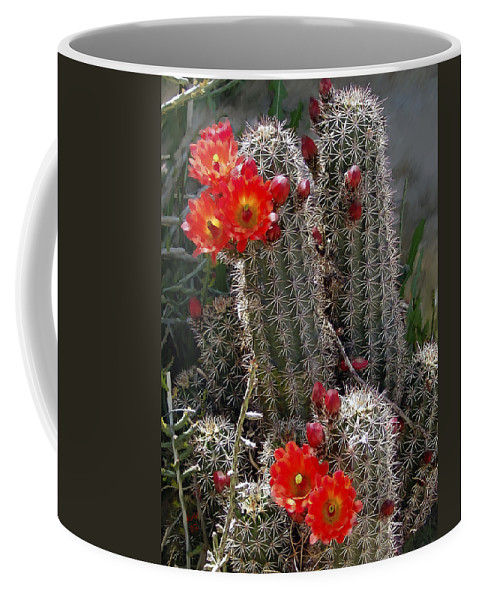 Cactus Coffee Mug featuring the photograph New Mexico Cactus by Kurt Van Wagner