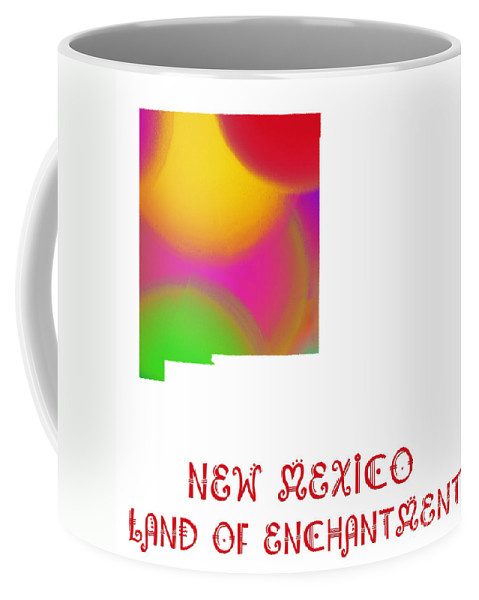 Andee Design Coffee Mug featuring the digital art New Mexico State Map Collection 2 by Andee Design