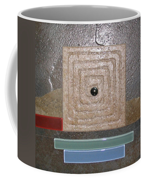 Assemblage Coffee Mug featuring the relief New Moon by Elaine Booth-Kallweit