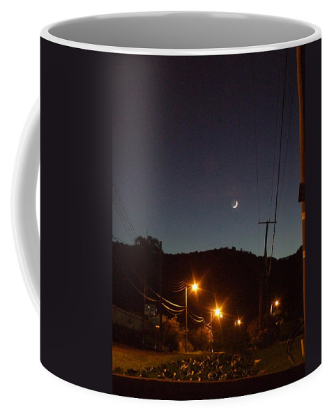 Coffee Mug featuring the photograph New Moon by Katerina Naumenko