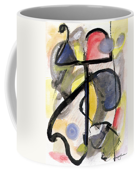 Abstract Art Coffee Mug featuring the painting New Moon by Stephen Lucas