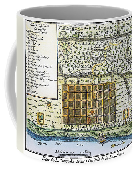 1720 Coffee Mug featuring the photograph New Orleans, 1718-20 by Granger