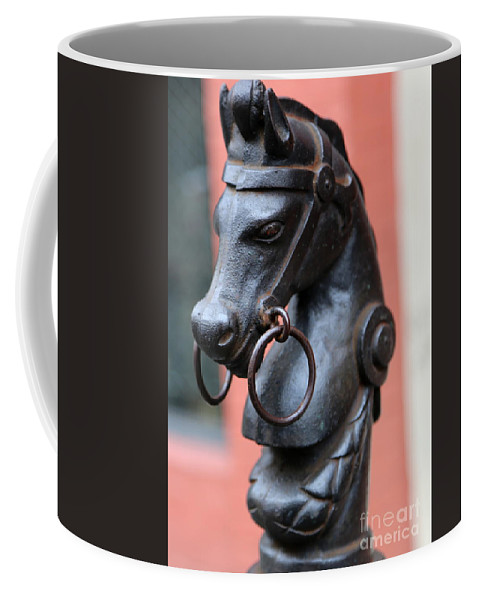 New Orleans Coffee Mug featuring the photograph New Orleans Horse Tether by Carol Groenen