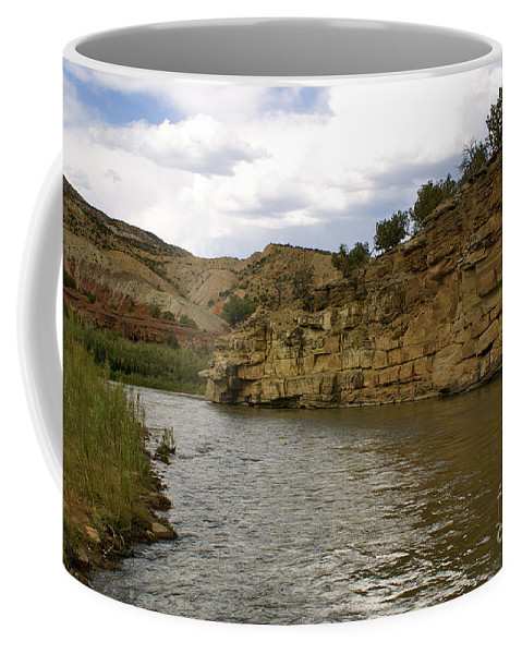 River Coffee Mug featuring the photograph New Photographic Art Print For Sale Banks Of The Rio Grande New Mexico by Toula Mavridou-Messer