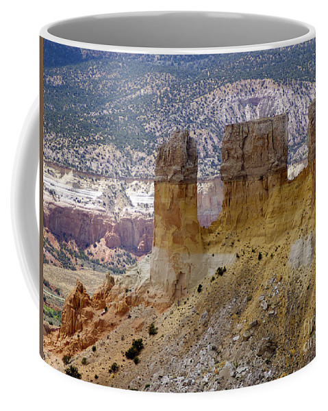 Breaking Bad Coffee Mug featuring the photograph New Photographic Art Print For Sale Ghost Ranch New Mexico 9 by Toula Mavridou-Messer