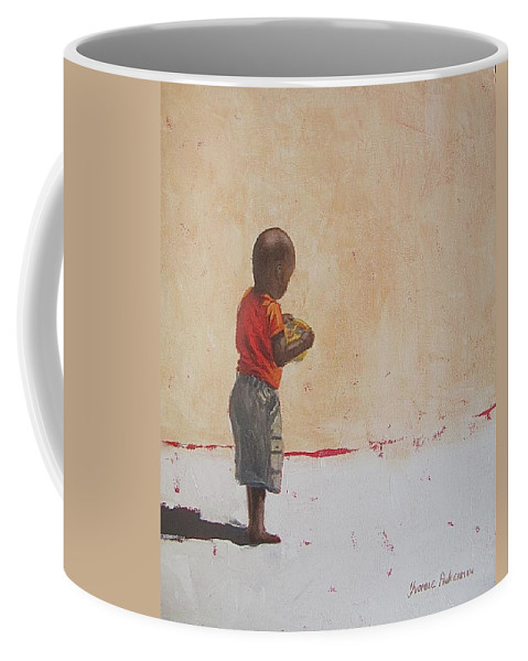 Africa Coffee Mug featuring the painting New Toy by Yvonne Ankerman