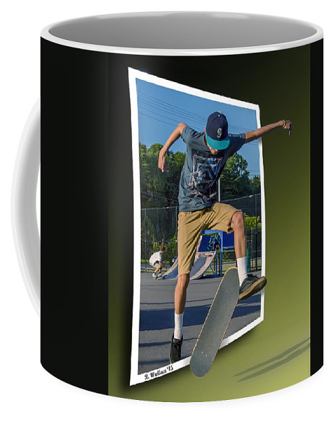 2d Coffee Mug featuring the photograph New Trick - Oof by Brian Wallace