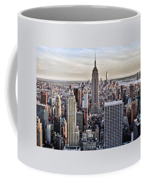 New York City Coffee Mug featuring the photograph On Top Of The Rock by Lori Figueroa