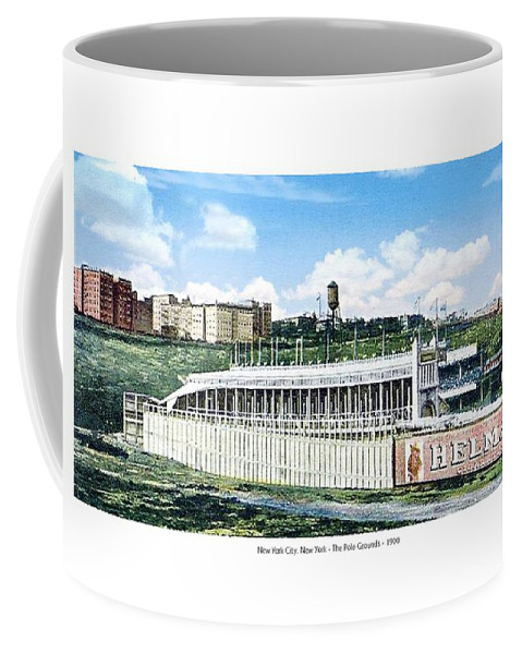 Baseball Coffee Mug featuring the digital art New York City New York - The Polo Grounds - 1900 by John Madison