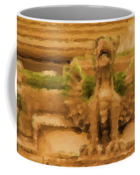 Gryphon Coffee Mug featuring the photograph New York Gryphon by Alice Gipson
