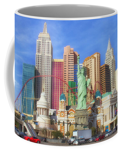 New York Coffee Mug featuring the photograph New York New York by Debby Richards