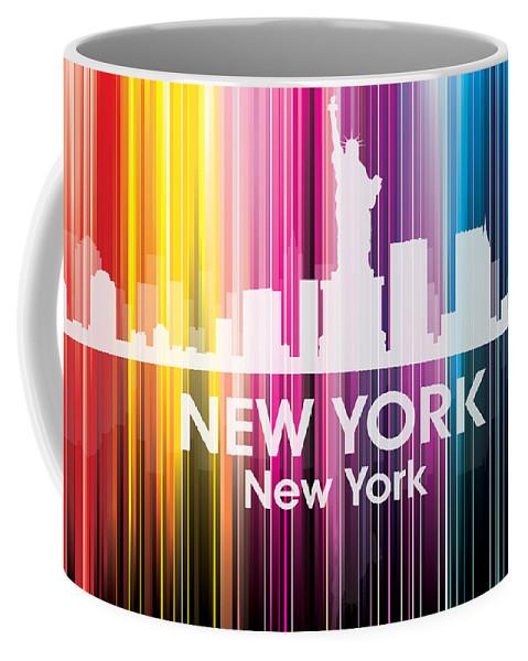 New York Coffee Mug featuring the mixed media New York Ny 2 by Angelina Vick