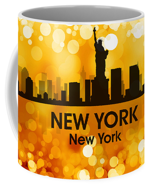 New York Coffee Mug featuring the mixed media New York Ny 3 by Angelina Vick