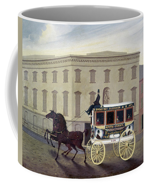 19th Century Coffee Mug featuring the painting New York Stagecoach by Granger
