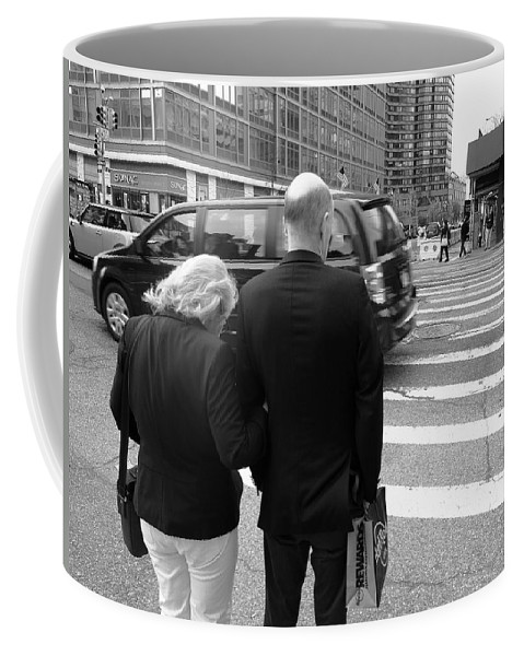 Architecture Coffee Mug featuring the photograph New York Street Photography 13 by Frank Romeo
