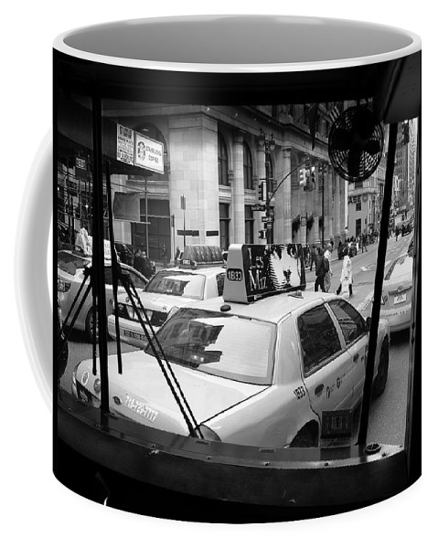 Architecture Coffee Mug featuring the photograph New York Street Photography 14 by Frank Romeo