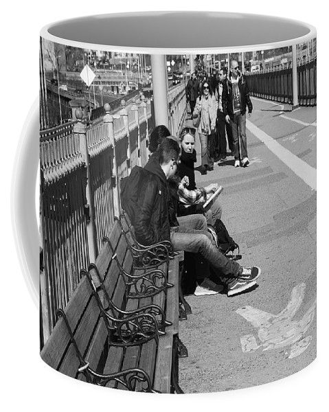 Architecture Coffee Mug featuring the photograph New York Street Photography 15 by Frank Romeo
