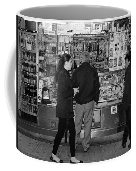 Architecture Coffee Mug featuring the photograph New York Street Photography 18 by Frank Romeo