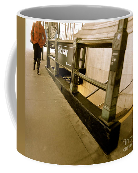 New York Coffee Mug featuring the photograph New York Subway by Jacqueline Athmann