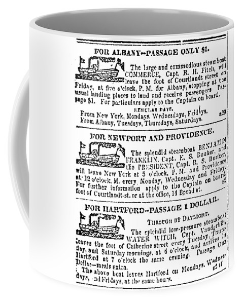 1833 Coffee Mug featuring the painting New York Sun, 1833 by Granger