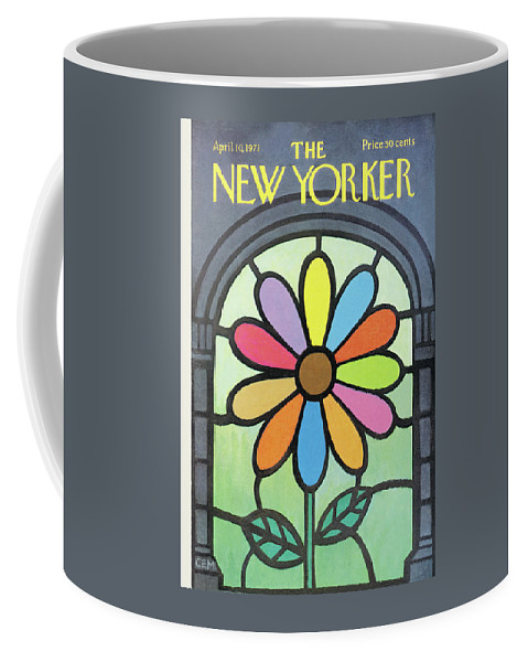 Charles E. Martin Cma Coffee Mug featuring the painting New Yorker April 10th, 1971 by Charles E Martin