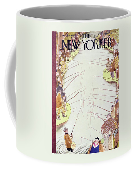 Sport Coffee Mug featuring the painting New Yorker April 18 1936 by Rea Irvin
