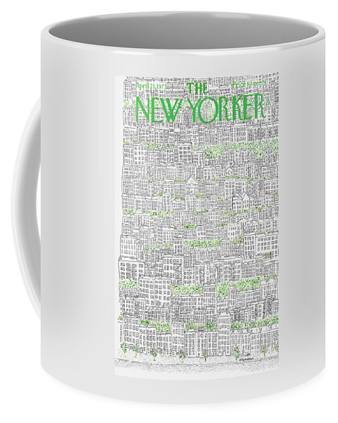 Patrick Coffee Mug featuring the painting New Yorker April 21st, 1973 by Raymond Davidson